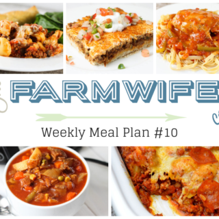 Welcome to this week's meal plan I have a great group of recipes for you this week including; Cheesy Crock Pot Tortellini Casserole, Deep Dish Taco Squares, Instant Pot Chicken Cacciatore, Vegetable Beef Soup, Crock Pot Bubble Up Pizza Casserole, All-American Meatloaf Sandwich, Pork Chops and Baked Beans, Hashbrown Breakfast Casserole, Peaches and Cream French Toast, Chicken Tortellini Caesar Salad, Grilled Sausage and Vegetable Foil Packets, No-Bake Energy Bites, Crock Pot Creamy Chicken Dip, Slow Cooker Pumpkin Pie Pudding and Fresh Blueberry Pound Cake.