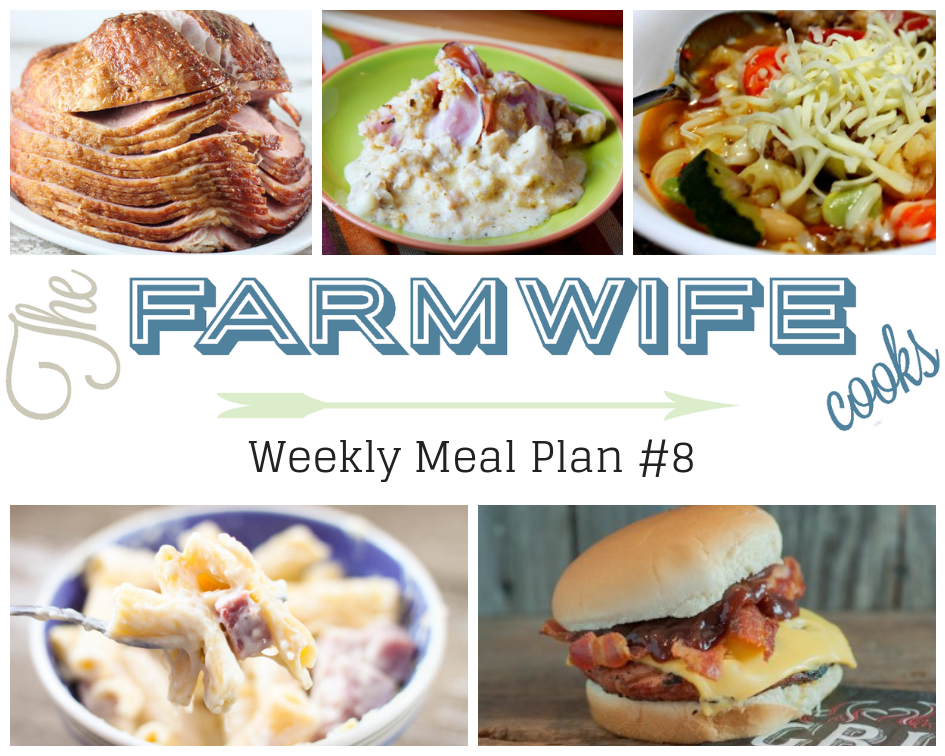 Welcome to this week's meal plan I have a great group of recipes for you this week including; Low-Carb Chicken Cordon Bleu Casserole, Pie Iron Tasty Tacos, Smoked Sausage and Cheese Pasta Bake, Easy Italian Stew, Deluxe Biscuit Pizza Bake, Grilled Pork Burgers, Slow Cooker Honey Dijon Ham, Blackberry Buttermilk Pancakes with Blackberry Syrup, Crock Pot Coffee Cake, Tuna Salad Coneys, Tavern Sandwiches, Pizza Dip, Caramel Corn, Chocolate Chip Shortbread Cookies and Orange Dream Fruit Salad.