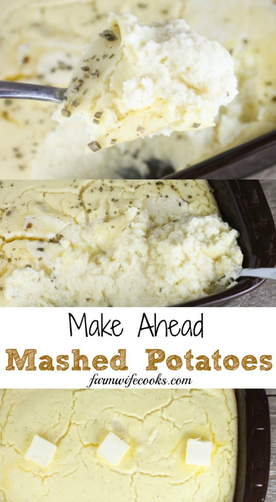 Make Ahead Mashed Potatoes are the perfect easy holiday side dish that can be made the day before.