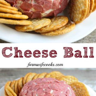 This easy Cheese Ball recipe has dried beef and green onions, makes a great appetizer and is perfect for a holiday celebration.