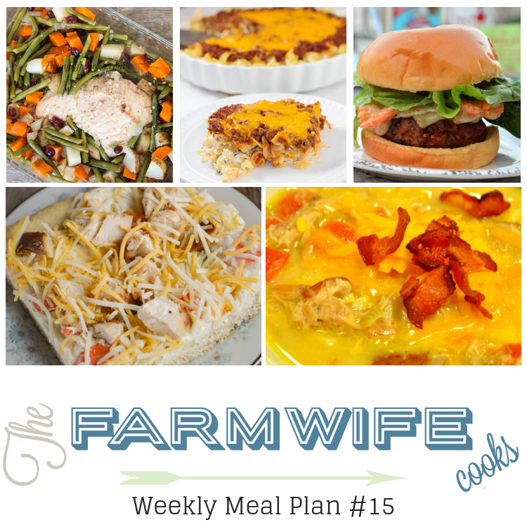 Welcome to this week's meal plan I have a great group of recipes for you this week including;Honey Glazed Turkey and Potatoes,Mexican Corn and Chicken Chowder,Sour Cream Noodle Bake,Cheesy Potato Soup,Chicken Ranch Vegetable Pizza,Cajun Pork Burgers with Shrimp and Spicy Aioli,Classic Meatloaf, Instant Pot Low-Carb Mashed Cauliflower,Soft Pumpkin Cookies and Grandma's Chocolate Fantasy Fudge.