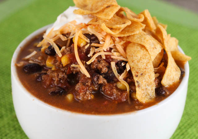 This Taco Soup is simple to make and has all your favorite taco flavors making it the perfect week night dinner recipe!