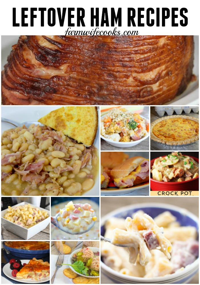 It isn't the holidays without ham! I asked all my food blogger friends for their favorite leftover ham recipes and here are 22 great recipes to make with leftover ham.