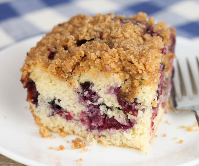 This Blueberry Coffeecake with Streusel Topping is an old Amish recipe that makes the perfect breakfast or dessert!