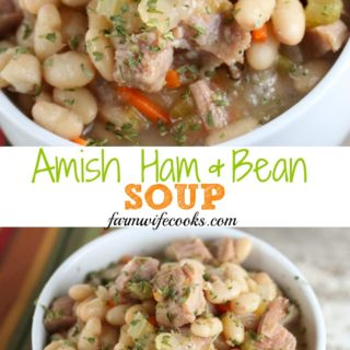 This Amish Bean Soup is an old fashioned soup recipe that is budget friendly and great to make with leftover ham.