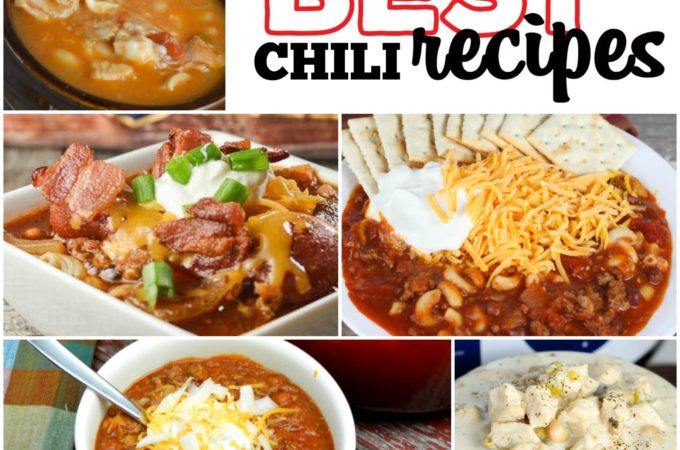 This group of our best chili recipes includes crock pot chili recipes and easy chili recipes like, Meat Lovers Crock Pot Chili,Creamy White Chicken Chili, Easy Chili Mac and more! These recipes are perfect for cold fall and winter days!