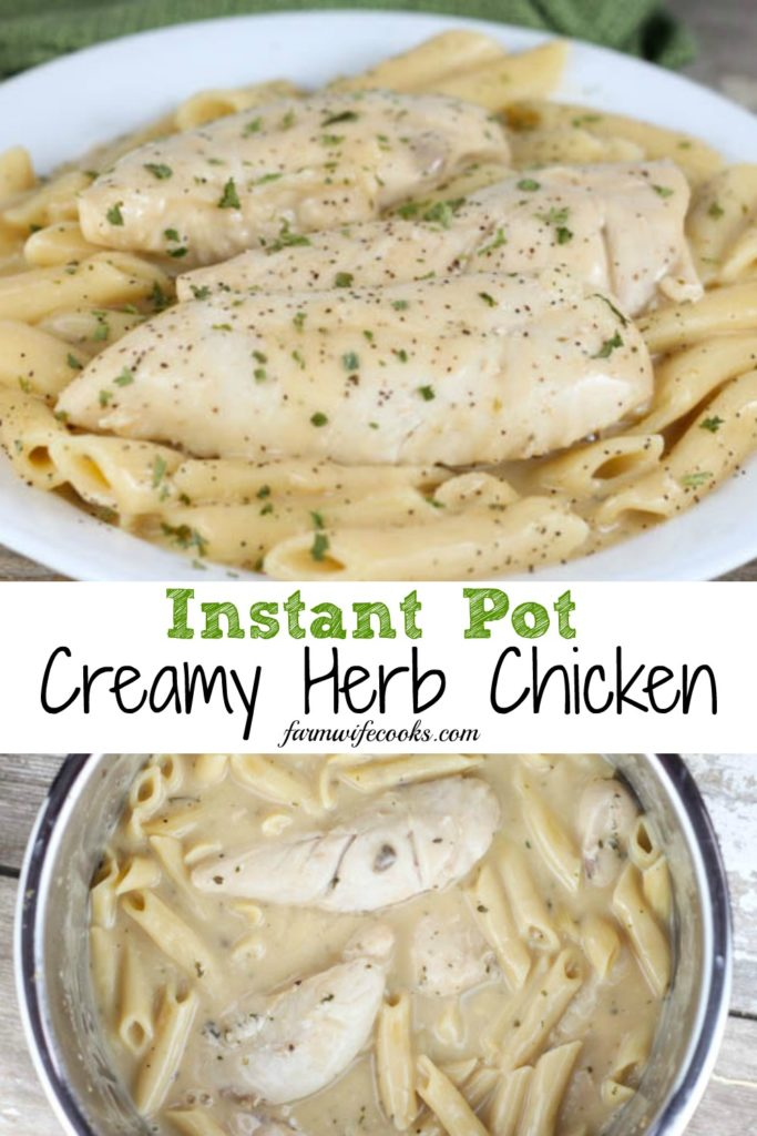 Instant Pot Creamy Herb Chicken is an easy chicken dinner recipe the whole family will love!