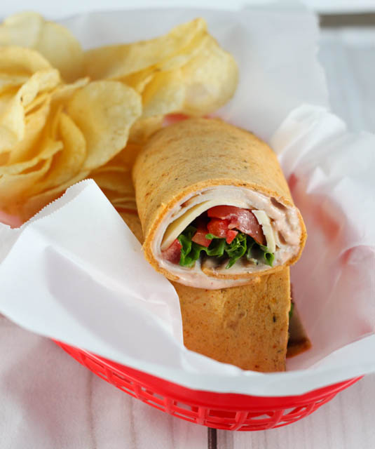 Southwest Turkey Wraps make the perfect lunch for school or work. This recipe has a quick and delicious Southwest Sauce that makes it extra tasty!