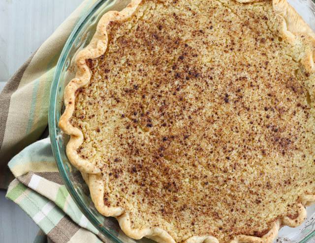 Zucchini Pie is a great summer dessert recipe. This pie is sweet with a crust and tastes like a sugar cream pie but is made with zucchini.