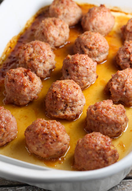 Ham Balls With a Brown Sugar Glaze is a family favorite recipe that can be made with leftover ham.