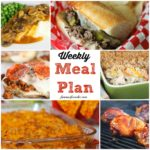 Welcome to this week's meal plan! I have a great group of recipes for you this week, including: Chicken and Rice Casserole, Taco Bake, Creamy Herbed Chicken, Vegetable Beef Soup, Pizza Burgers, BBQ Chicken, Golden Mushroom Pork Chips, Italian Beef Sandwiches, Easy Pepperoni Crescent Roll Calzones, No-Bake Peanut Butter Cheerio Bars, , Gooey Butter Cake, Frozen Mudslides, Apple Pie Oatmeal, , Orange Dream Fruit Salad, and Crock Pot Scalloped Potatoes.