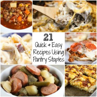 Need dinner ideas that you can throw together with items you've already got on hand? Here are some of my favorite Quick and Easy Meals Using Pantry Staples!