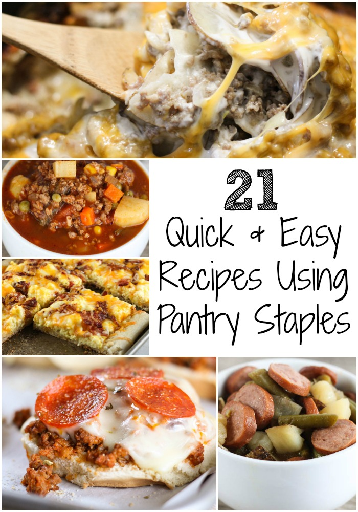 Need dinner ideas that you can throw together with items you've already got on hand? Here are some of my favorite Quick and Easy Recipes Using Pantry Staples!