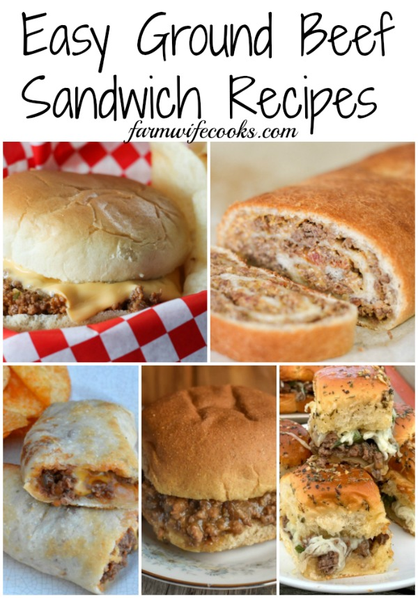 Easy Ground Beef Sandwich Recipes