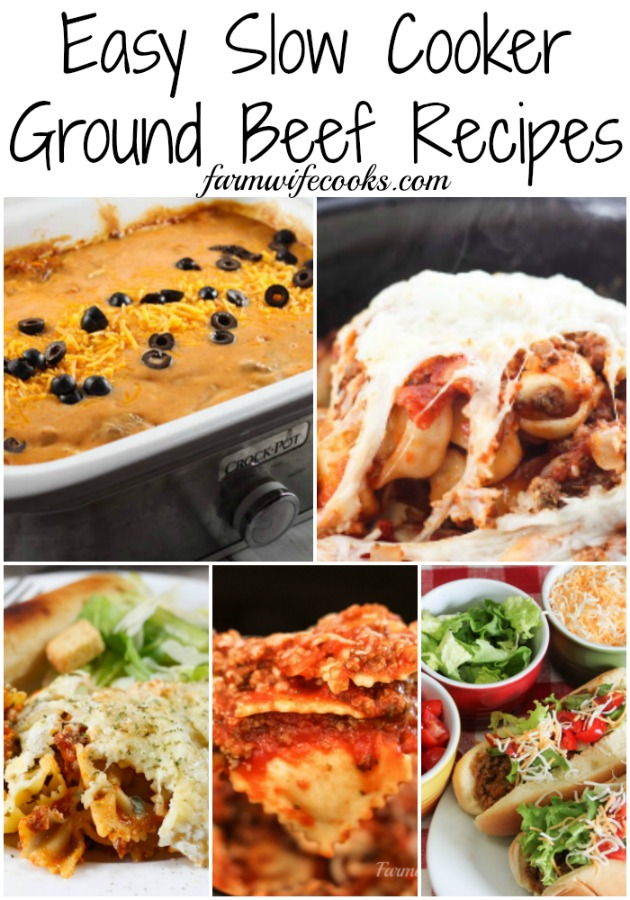 Easy Slow Cooker Ground Beef Recipes