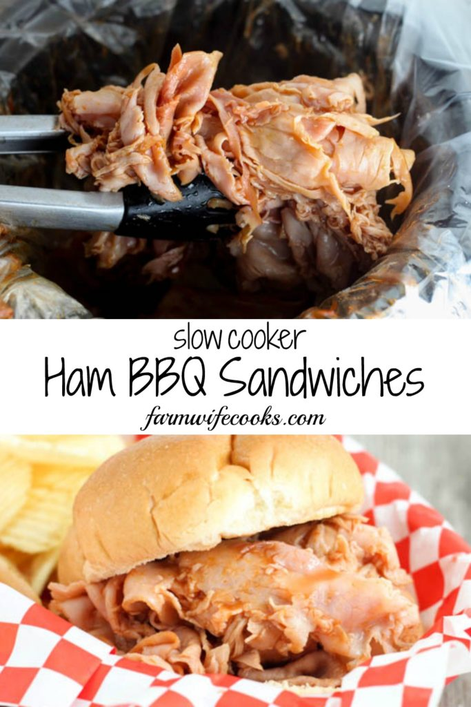 Slow Cooker Ham Barbecue Sandwiches