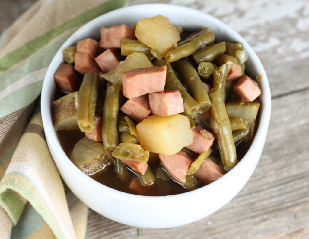 Ham, Potatoes and Green Beans