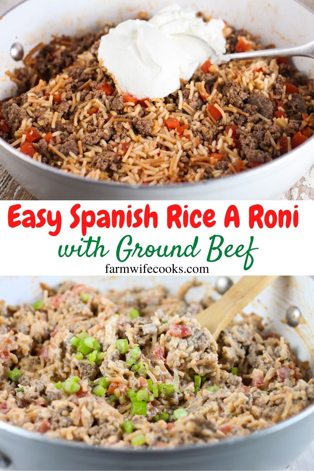 Easy Spanish Rice A Roni with Ground Beef