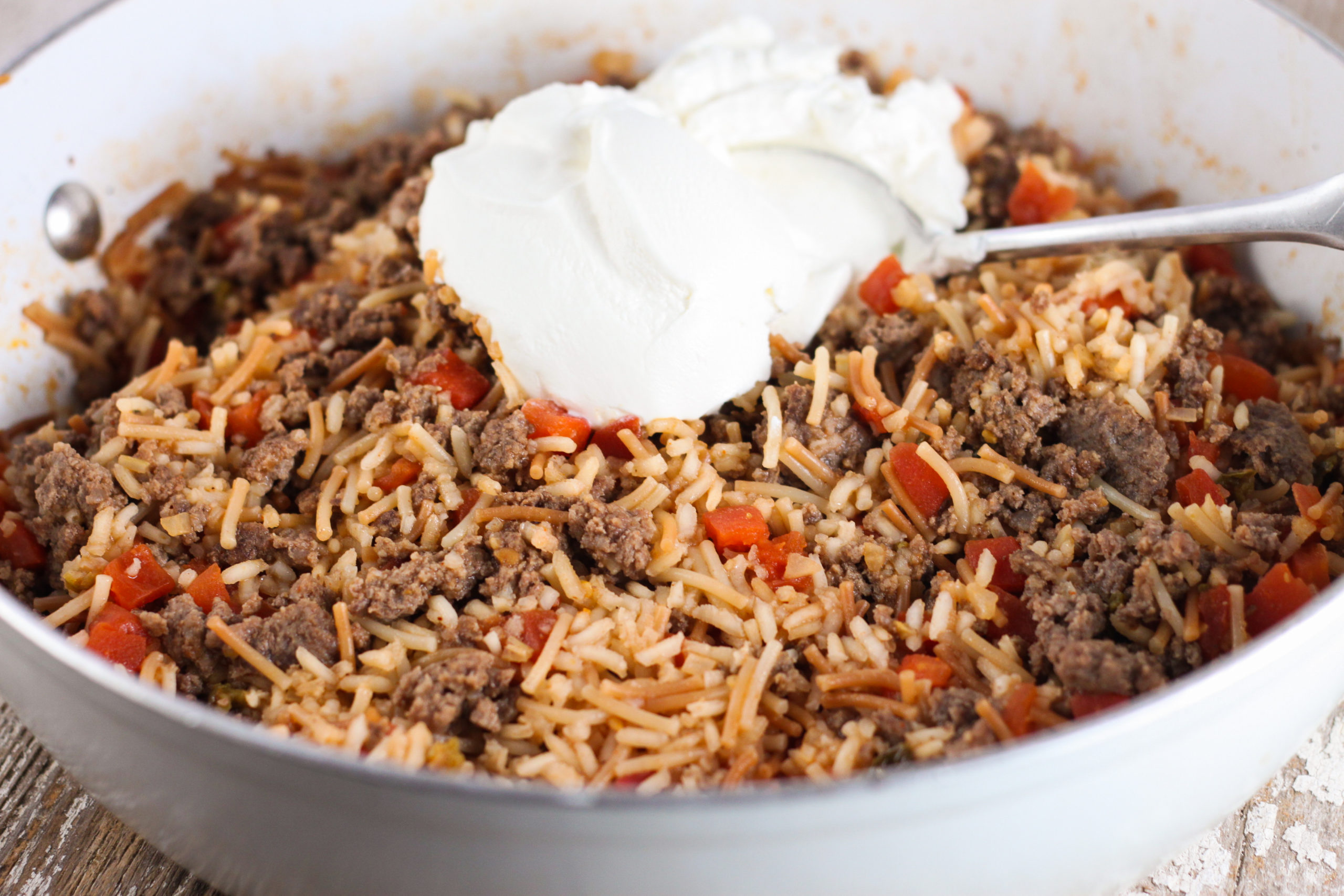Spanish Rice A Roni with Ground Beef